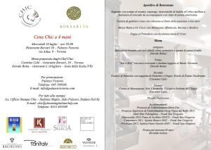 Cena Chic - Palazzo Victoria, Verona - 10 luglio 2013
