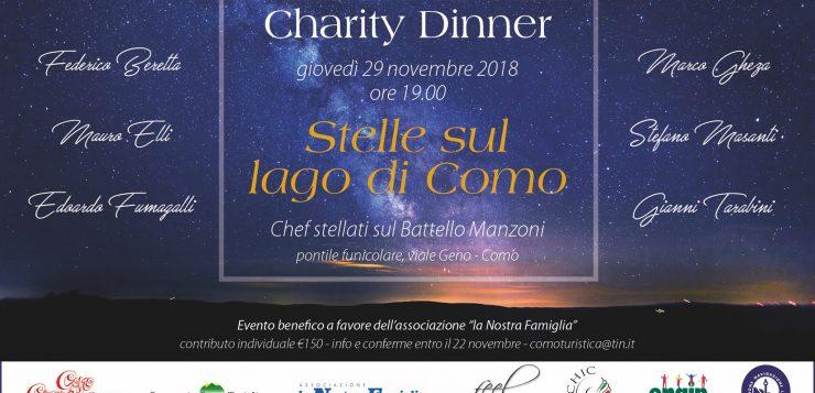 Giovedì 29 Novembre a bordo del battello – Charity Dinner sul Lago di Como